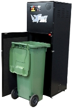 The PEL Waste Reduction Equipment BB09 Glass Bottle Crusher at Catex 2017