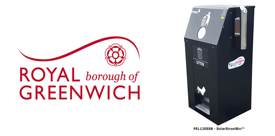 IoT SolarStreetBin™ Installed in Greenwich Council