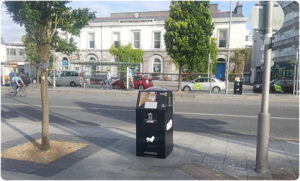 PEL120SSB SolarStreetBin™ Installed in Eyre Square Galway - July 2018