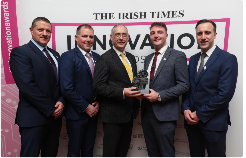 PEL Waste Reduction Equipment Winners in Manufacturing & Design Category at the Irish Times Innovation Awards 2019